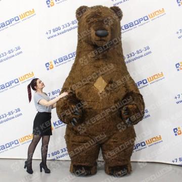 Надувной костюм белый зефир 2,7м