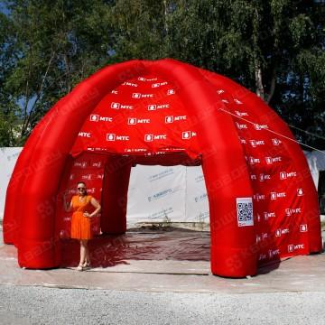 надувной красный шатер мтс