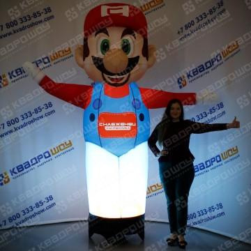 Рекламная фигура Марио с подсветкой