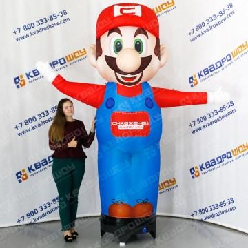 Надувная реклама для улицы человечек Марио