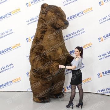 надувная фигура медведь тедди