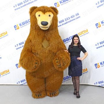 надувной меховой костюм бурого медведя