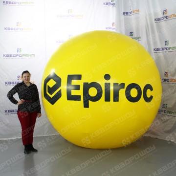 Надувная фигура мяч желтого цвета Epiroc