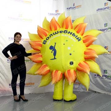 надувной промокостюм солнышко с логотипом