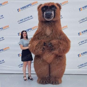Ростовой надувной костюм белый Медведь