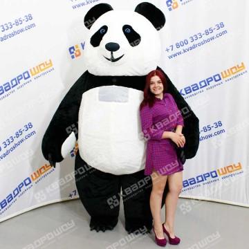 Надувной ростовой костюм из меха Панда