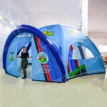 Надувной шестиопорный шатер