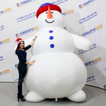 Снеговик толстячок надувной