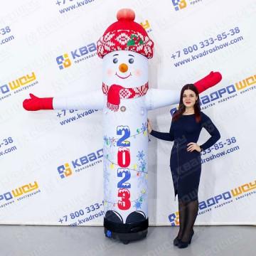 Надувной Снеговик с машущей рукой серии Лайт