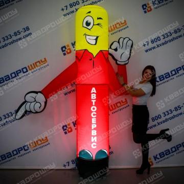 Надувная рекламная фигура Указатель с подсветкой