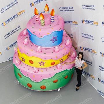 Надувной огромный Торт
