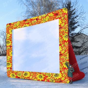 надувной уличный экран для проектора