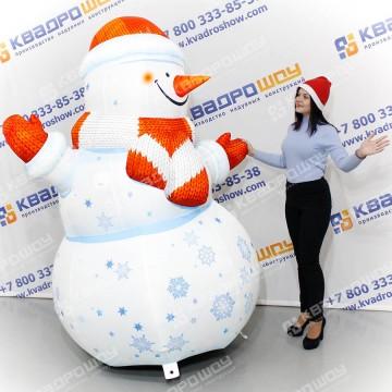 надувной уличный снеговик с подсветкой на заказ
