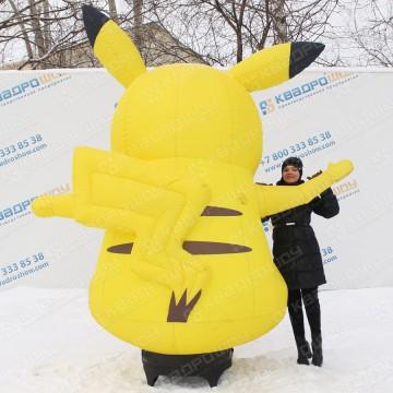 Надувной желтый покемон рекламная кукла