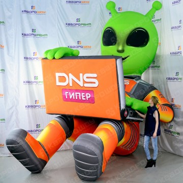 Надувной инопланетянин ДНС