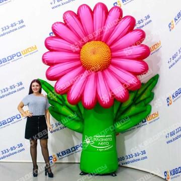 Декорация для сцены надувной цветок Ромашка