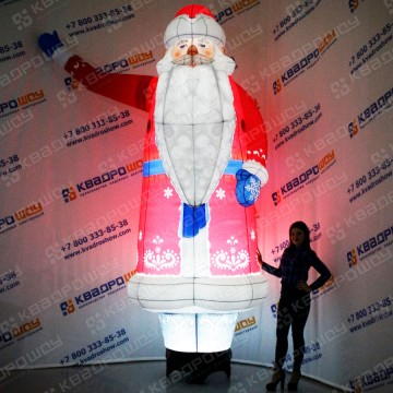Надувная новогодняя фигура Дед Мороз с подсветкой