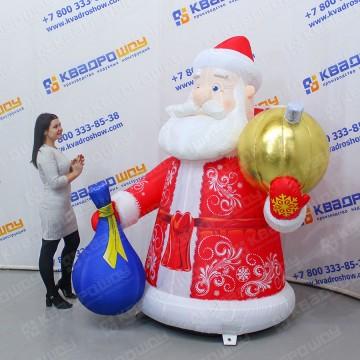 Оформительский надувной Дед Мороз
