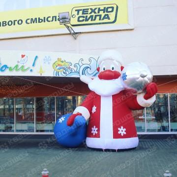Надувная реклама Дед Мороз