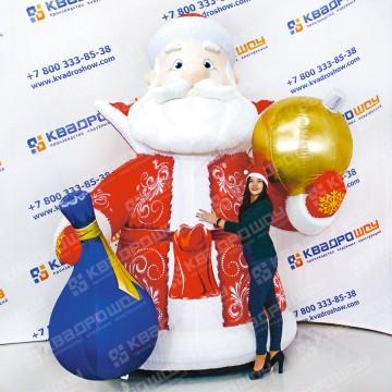 Новогодняя пневмоконструкция Дед Мороз