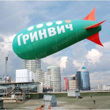 Реклама в небе Дирижабль