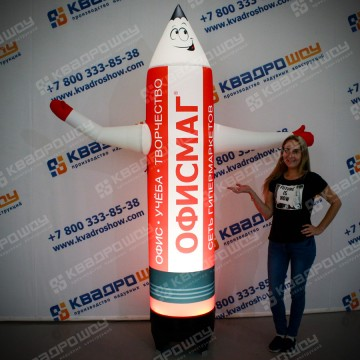 Надувной карандаш ночная реклама магазина