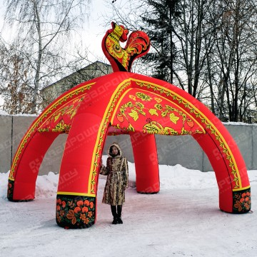 Надувной шатер Хохлома для оформления