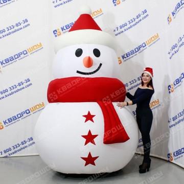 Надувная декорация на новый год Снеговик