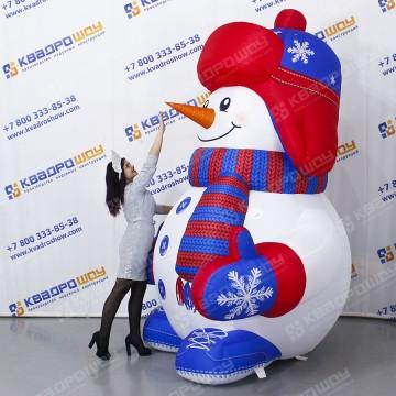 Надувная конструкция Снеговик с подсветкой
