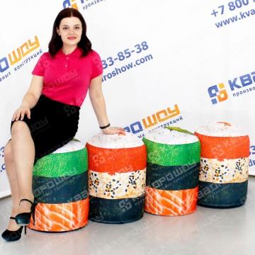 Надувные пуфики с рисунком на заказ