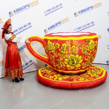 Надувные декорации Хохлома чашка с блюдцем