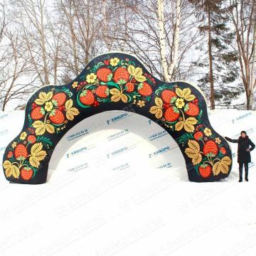 Надувные декоративные ворота арка хохлома