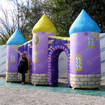 Надувные декоративные ворота сказочный замок
