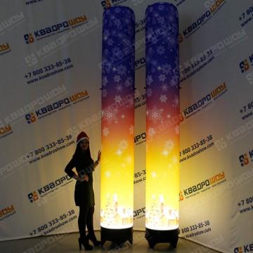 Новогодний декор Колонны с подсветкой