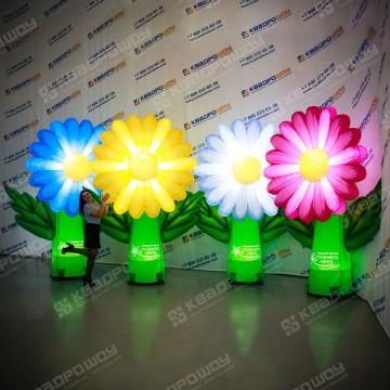 Декорации для оформления надувные цветы