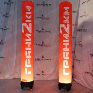 Рекламные колонны с подсветкой