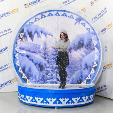 Надувная полусфера новогодняя Зима в лесу