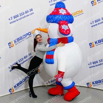 Надувная ростовая кукла Снеговик