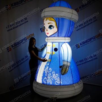 новогодняя уличная фигура снегурочка светящаяся