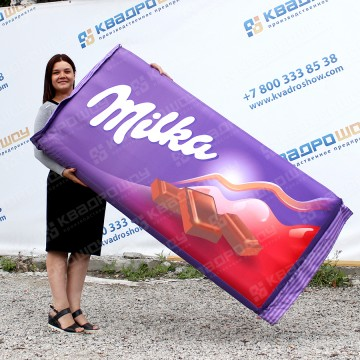 огромная надувная плитка шоколада