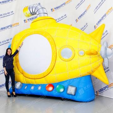 огромная надувная подводная лодка с подсветкой
