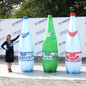 Надувные копии товара бутылки высотой 2,5 метра