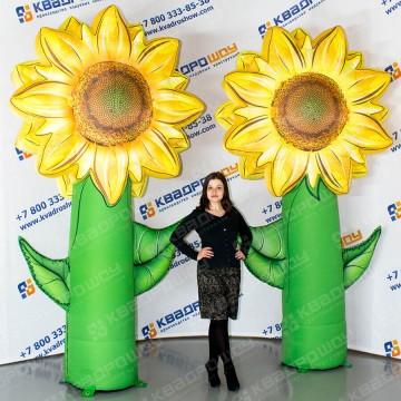 огромные надувные цветы подсолнухи для декорации праздника