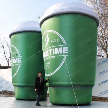 огромные надувные кружки кофе для рекламы