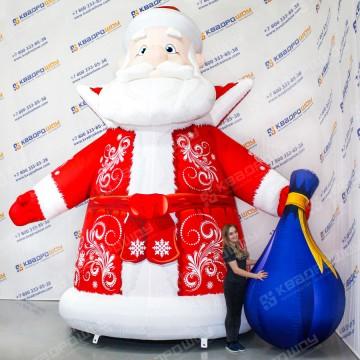 Надувная декорация Дед Мороз с мешком классический