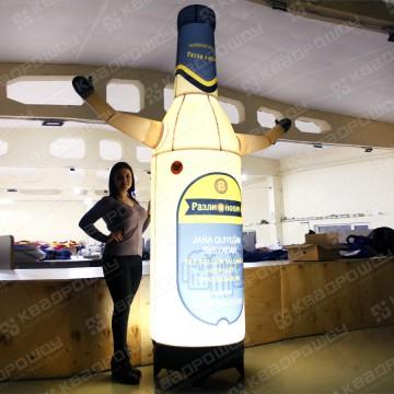 огромный светящийся муляж бутылки пива копия продукции