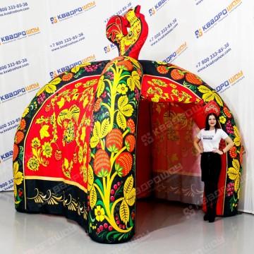 Палатка надувная для торговли Черная Хохлома