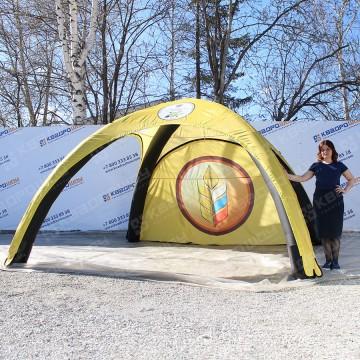 Надувная палатка герметичная желто-черная 4х4м