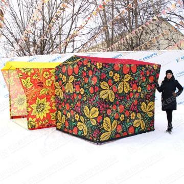 Палатка для торговли Красная и Черная Хохлома