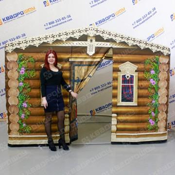 Торговая палатка Изба с двумя дверьми